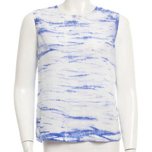 Equipment Sleeveless Tie Dye Silk Top Small